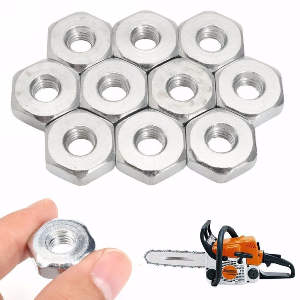 Chainsaw M8 Bar Nuts Fit MS361 MS381 MS440 MS441 MS660 Chainsaw Part 2Pcs USA