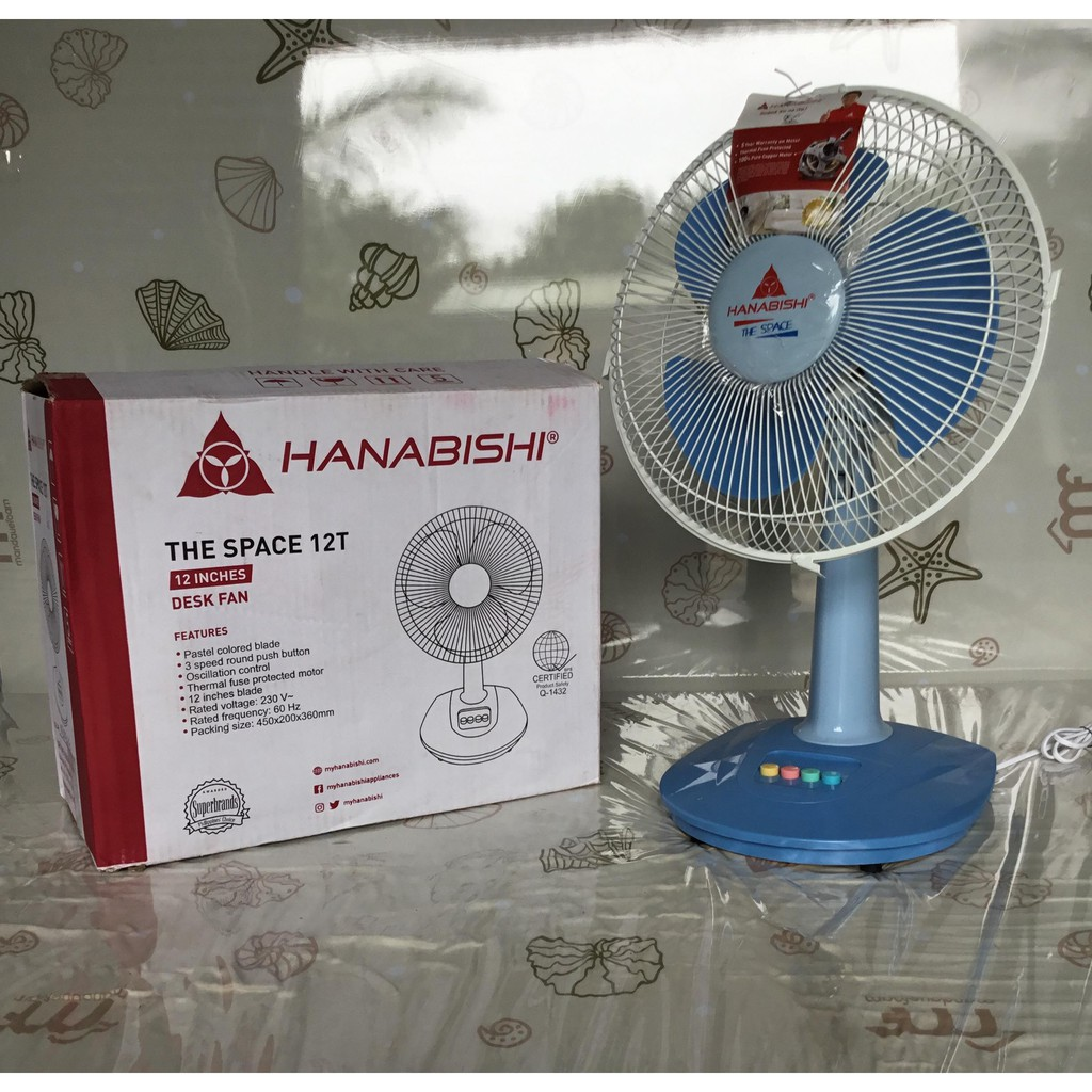 Hanabishi Desk Fan The Space 12t Shopee Philippines