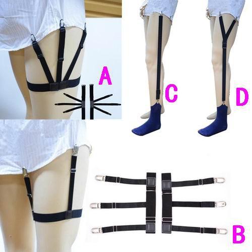 0af57dd80 Mens Shirt Stays Garters Leg Thigh Elastic Garter Belt