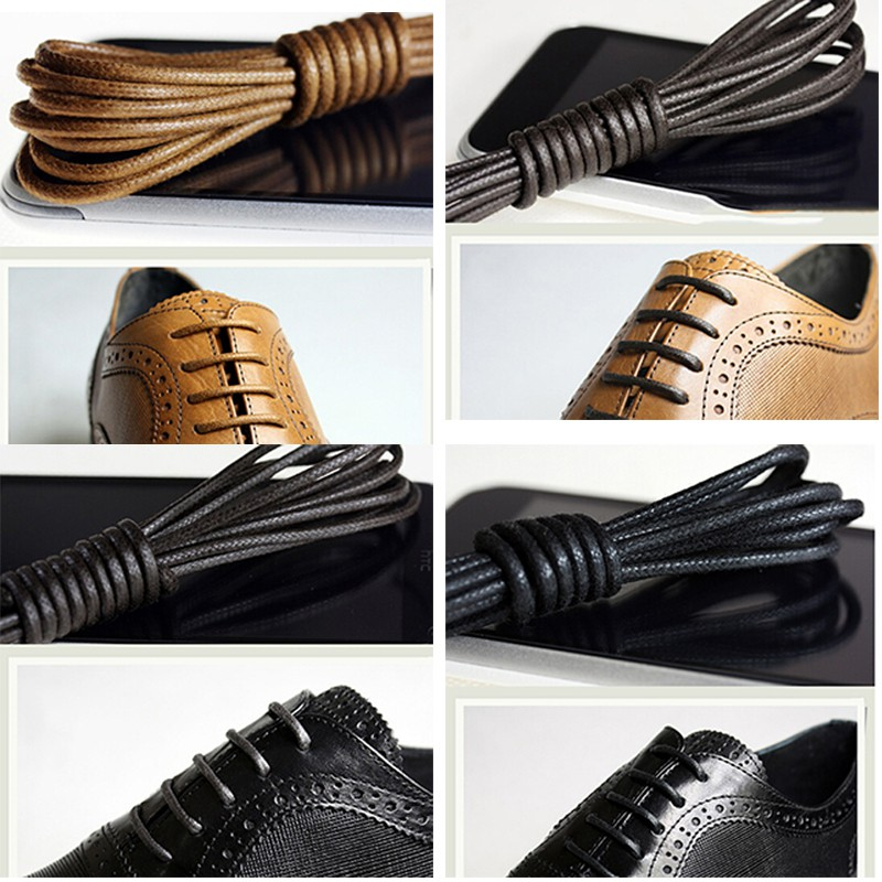 Dress Shoe Thin Round Laces Shoelaces Boot Strings Colored Shoestrings Laces