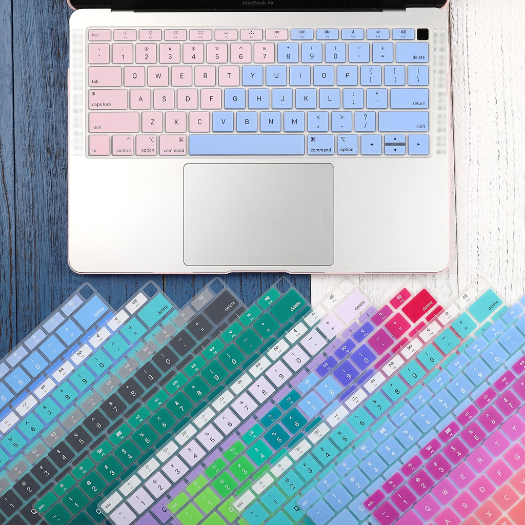 Baby Pink Us English Silicon Keyboard Cover Transparent Clear Protector for MacBook Pro 16 Inch 2019 A2141 Touch Bar//Touch Id