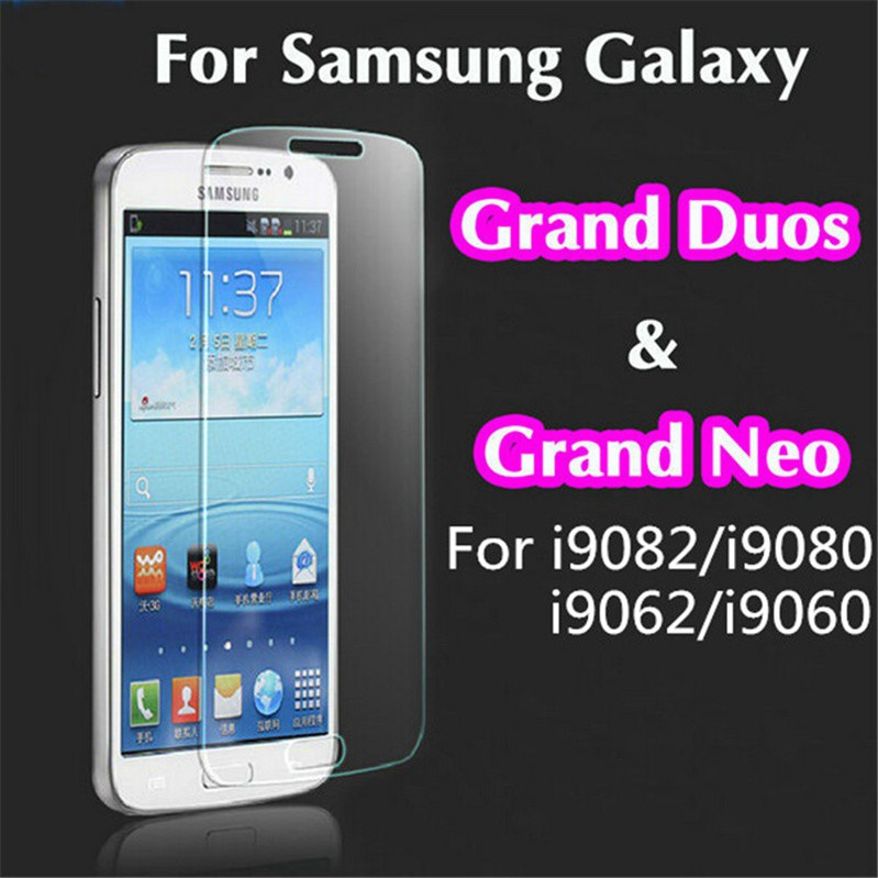 2-pcs For Samsung Galaxy Grand Neo Plus/I9060 Tempered Glass Screen  Protector Full Glass Film