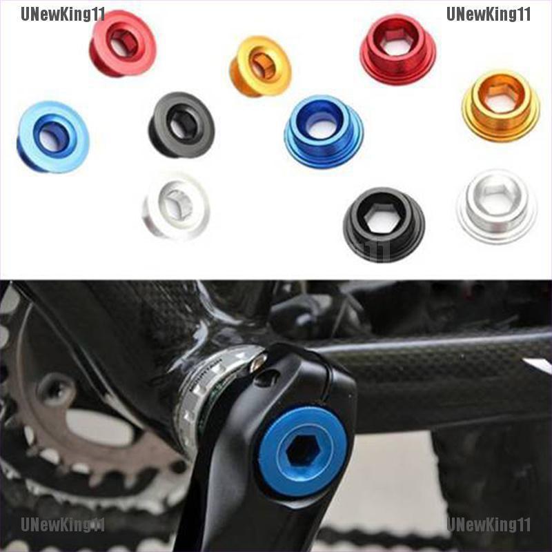 Aluminum Alloy Anodized Arm Fix Cap Bolt Bike Bicycle Crank Chain Screw Axis SD