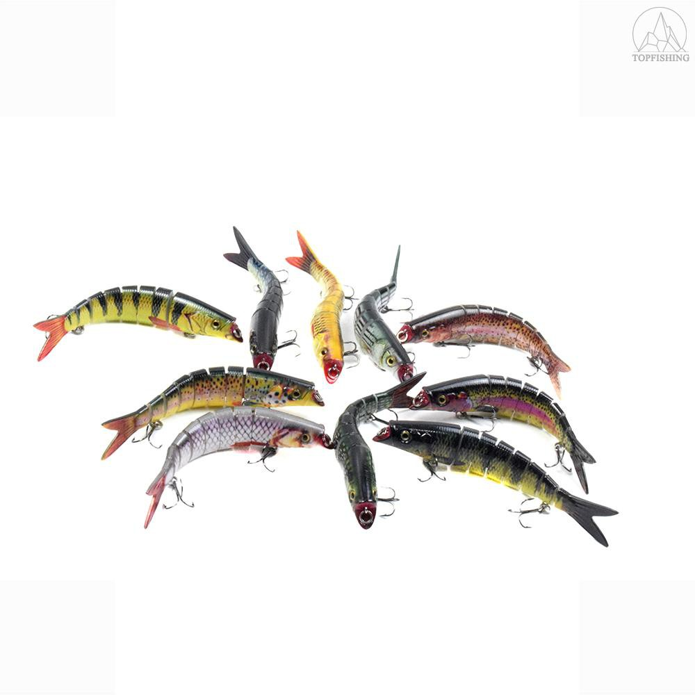 0.76oz Bionic Multi Jointed Hard Baits S Swimming Action Fishing Lures 5.5in
