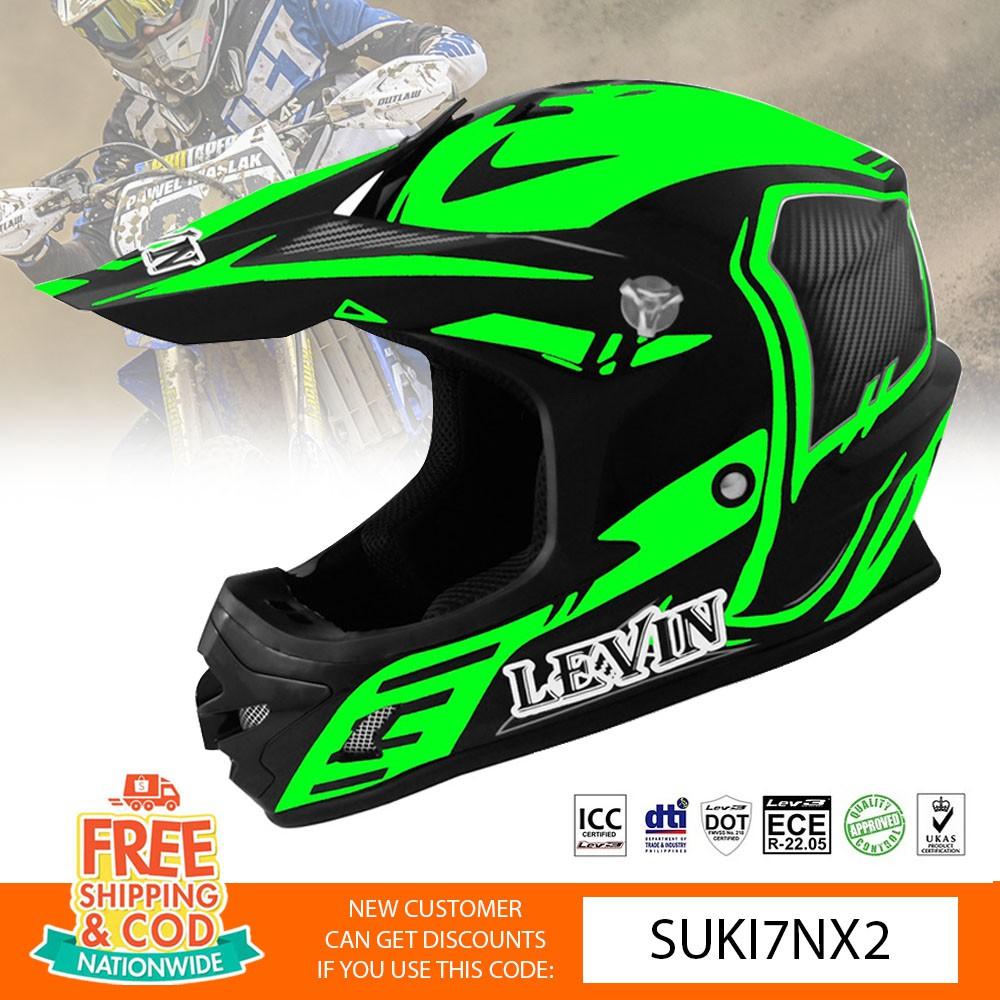 LEVIN Motocross Full Face J2002 Acura Helmet Motorcycle