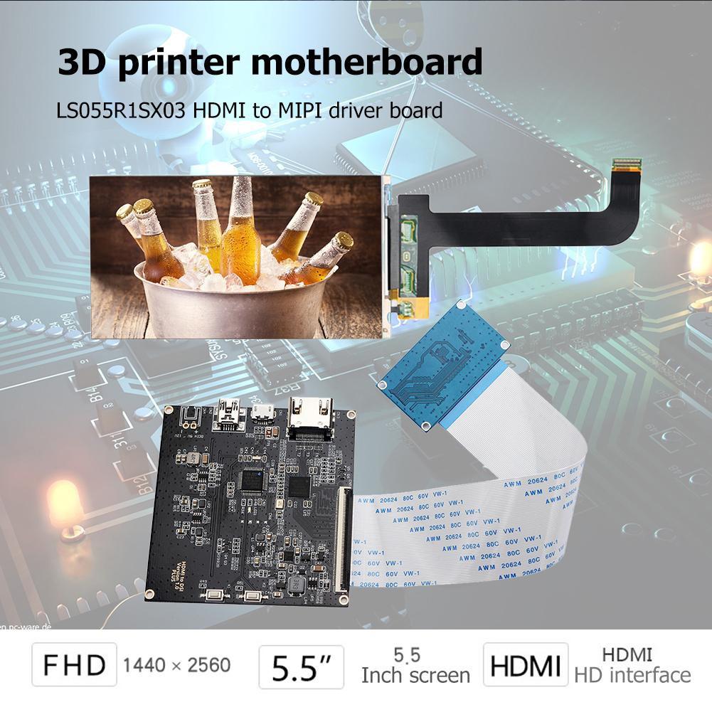 (Ele)3D Printer 5 5 Inch LS055R1SX03 Module Display+HDMI to MIPI Driver  Board