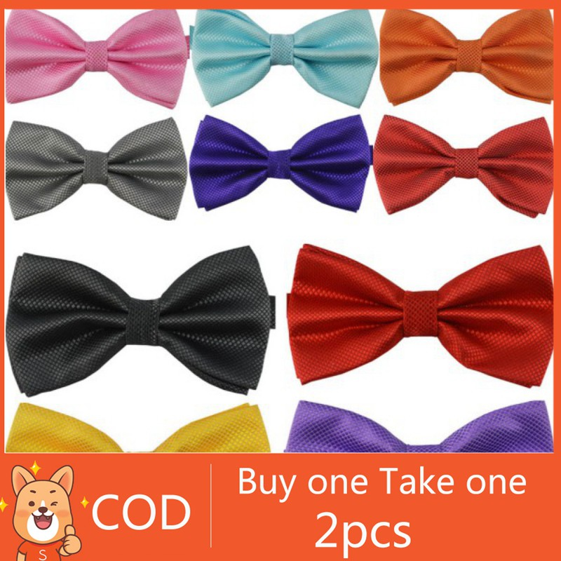 e96ddf3cf236 (Buy 1 take 1) Mens Adjustable Wedding Bow Tie Necktie | Shopee Philippines
