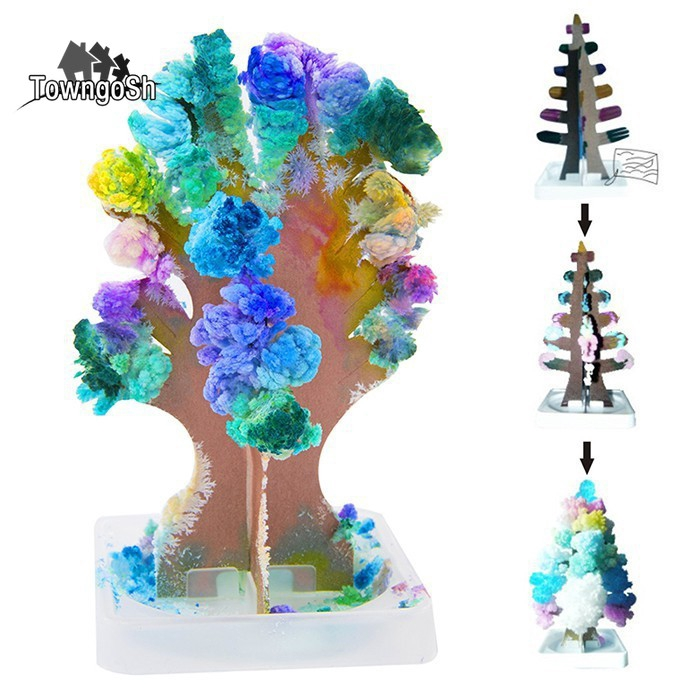 Simple Christmas Tree Decorations Philippines.Growing Christmas Crystal Tree Paper Decoration Science Toy