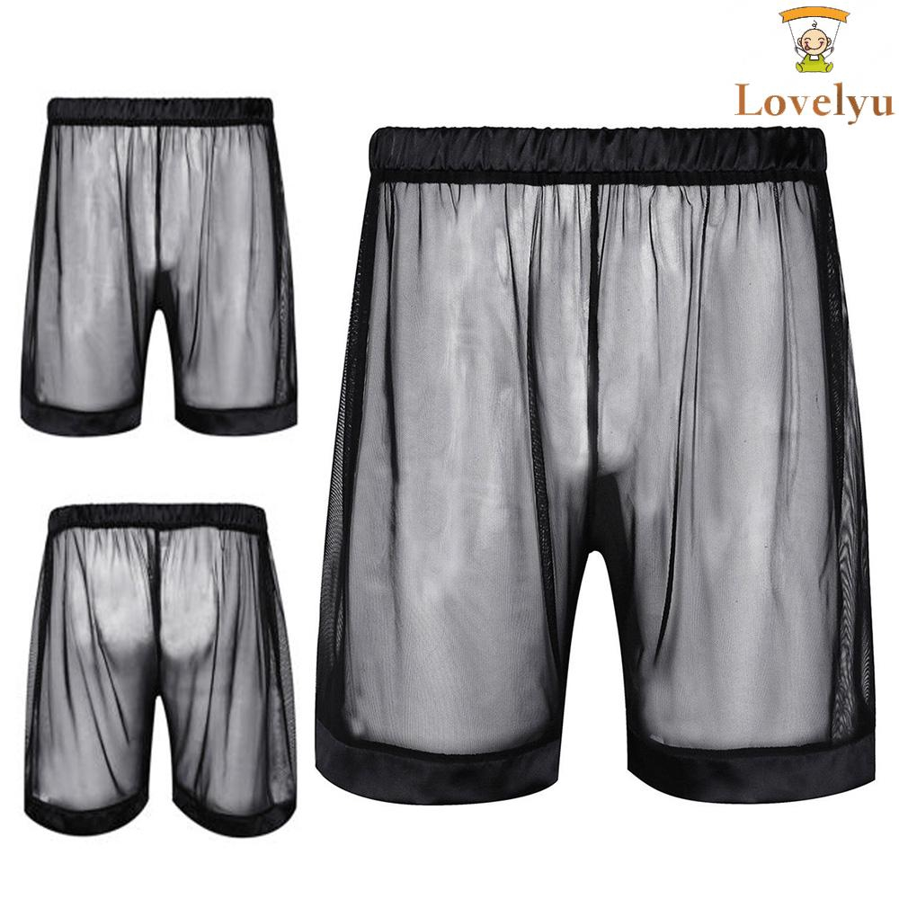 52d0ffa1c8eb ProductImage. ProductImage. Mens See-through Mesh Loose Lounge Boxer Shorts  Underwear