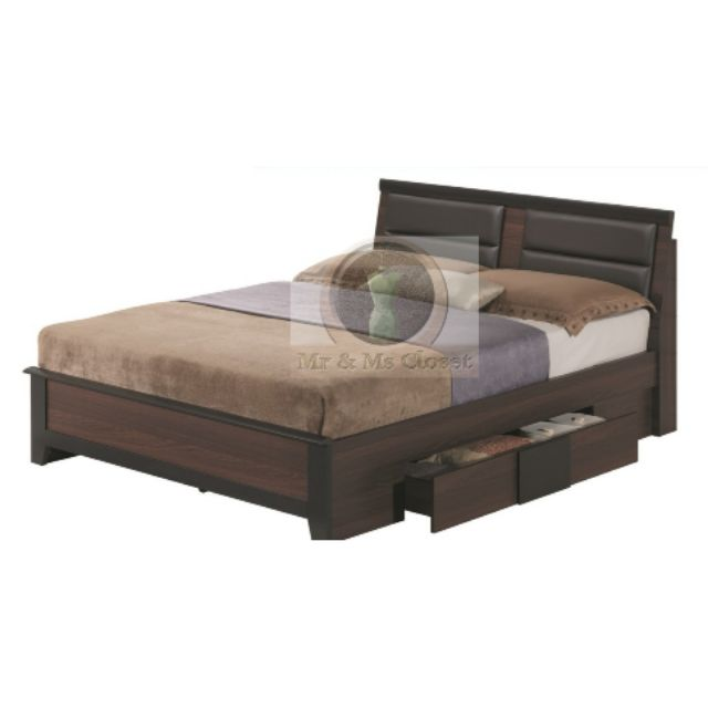 Bed Frame With Drawers At Both Sides