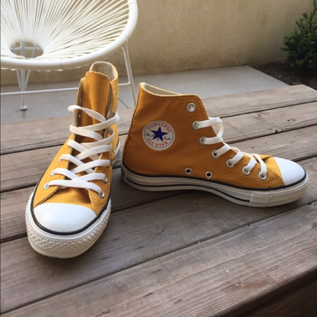 adf52479d5adbc CLEARANCE SALE  Converse Chuck Taylor High Cut Tops Mustard