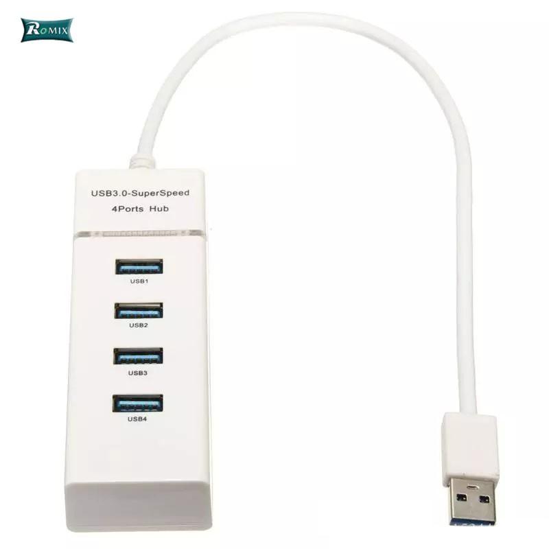 Portable Good Quality Super Speed 4 Ports USB 3.0 Hub Splitter Adapter LOT FS