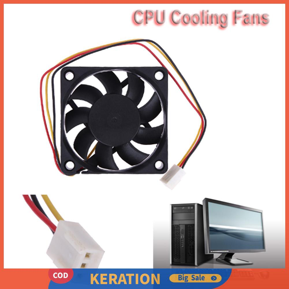 Fan Cooling High Speed 7cm 3-pin Cooling Fan Black Computer Components