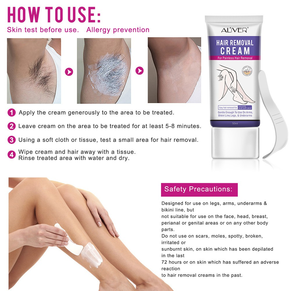 Gently Hair Remover Painless Depilatory Cream For Body Underarms