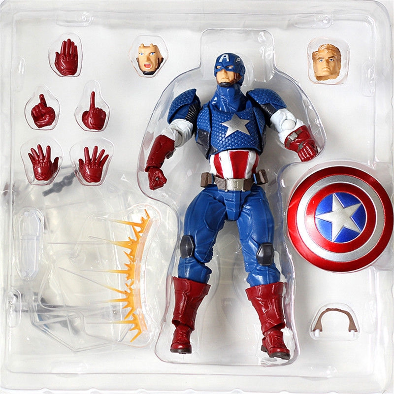 Kaiyodo Revoltech Amazing Yamaguchi Captain America Action Figure Toy New in Box