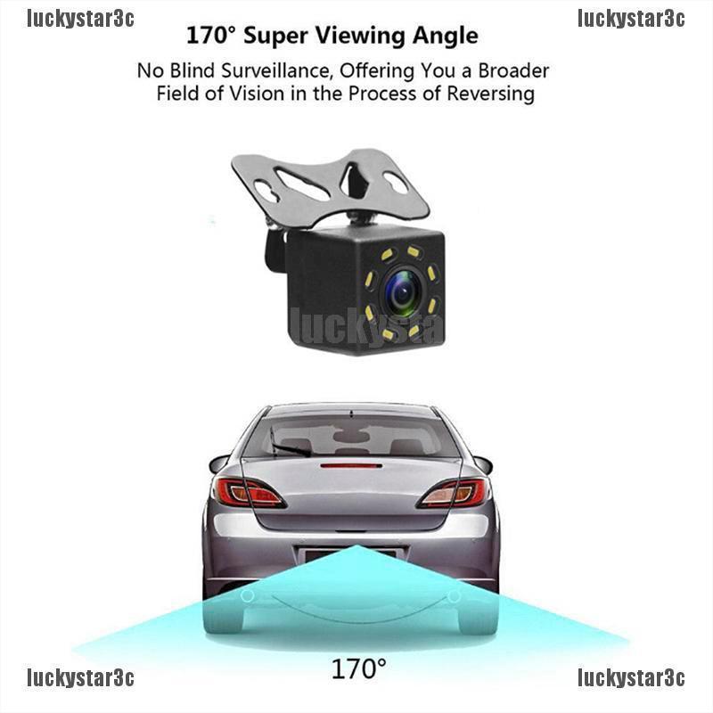 Ocamo Waterproof 7 LEDs IR Night Vision Car License Plate Rear View Backup Camera