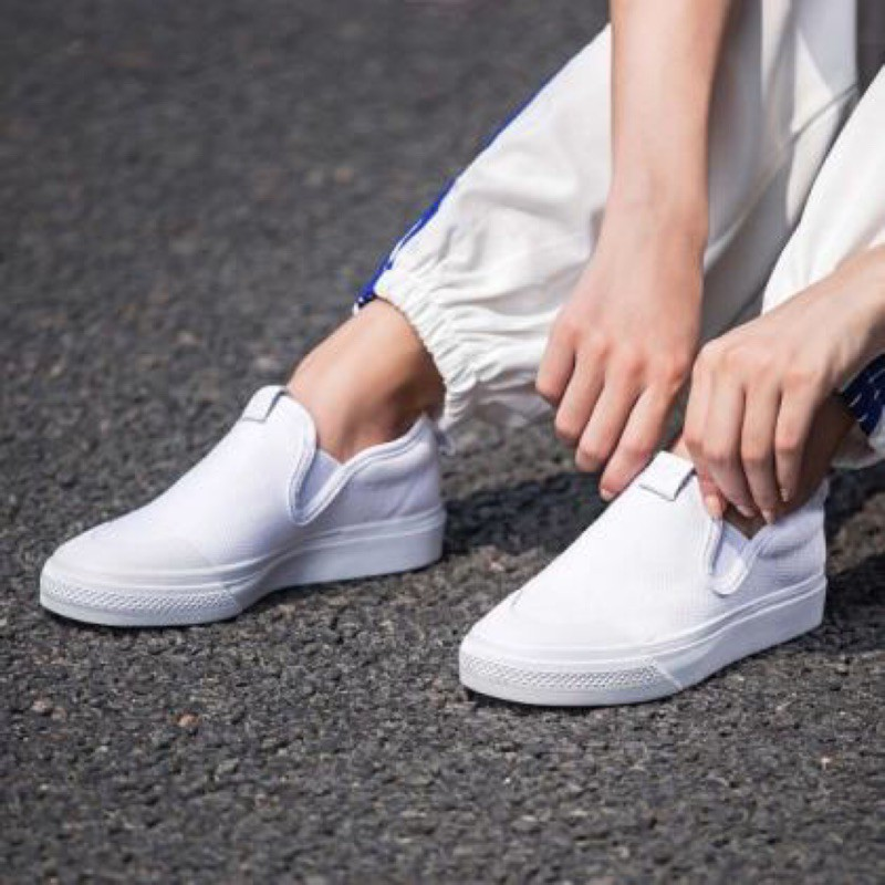 enlace ellos Cinco  zhuass]ADIDAS ORIGINALS NIZZA SLIP-ON white lazy shoes Korean women's shoes  CQ3103 | Shopee Philippines