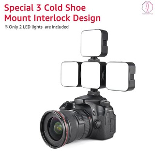 ORDRO Mini LED Video Light On-Camera Fill Light Photography Lamp Dimmable 2700-6500K CRI 95 Built-in 2000mAh Battery with Cold Shoe Mount Adapter USB Charging Cable Compatible with Canon//DSLR Camera