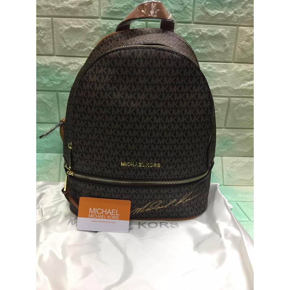 efee7a7f199e Michael Kors MK Rhea Zip Backpack | Shopee Philippines