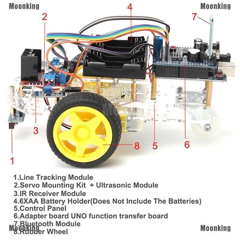 2WD Two Wheel Drive Metal Smart Robot Car Chassis Arduino DC Motor DIY USA