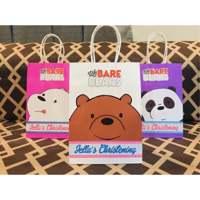 Cod We Bare Bears Loot Bags Shopee Philippines