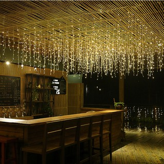 4m Warm White Ice Bar String Curtain Led Light For Outdoor