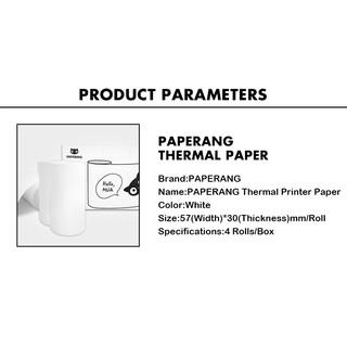 PAPERANG Thermal Printer Paper white 4Rolls/Box | Shopee