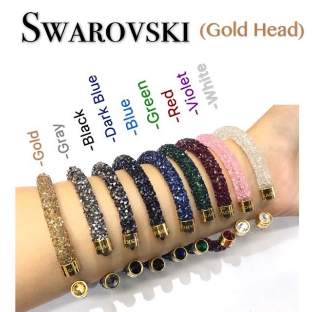 bracelet swarovski crystaldust violet
