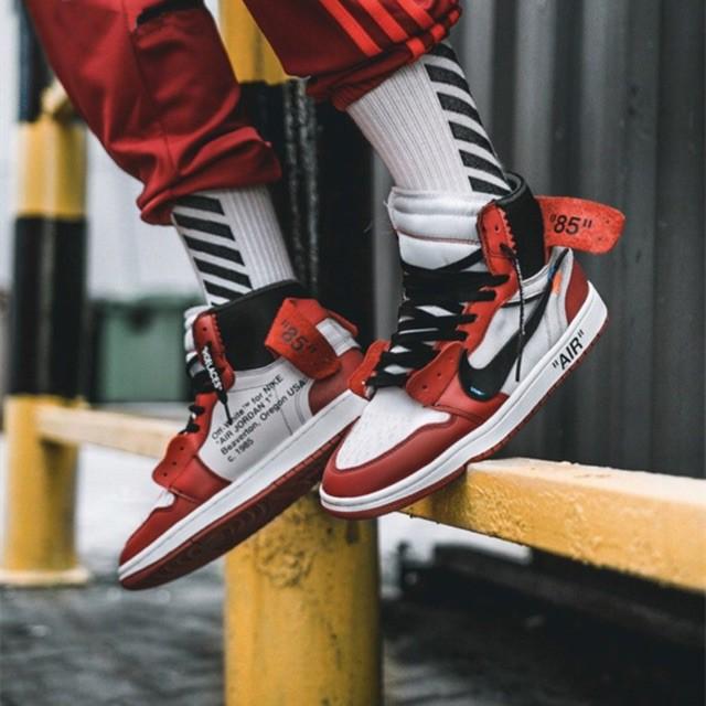 Coordinar Saturar ritmo  100% Original Nike FF-WHITE x Air Jordan LV First Generation Sneaker Shoes    Shopee Philippines