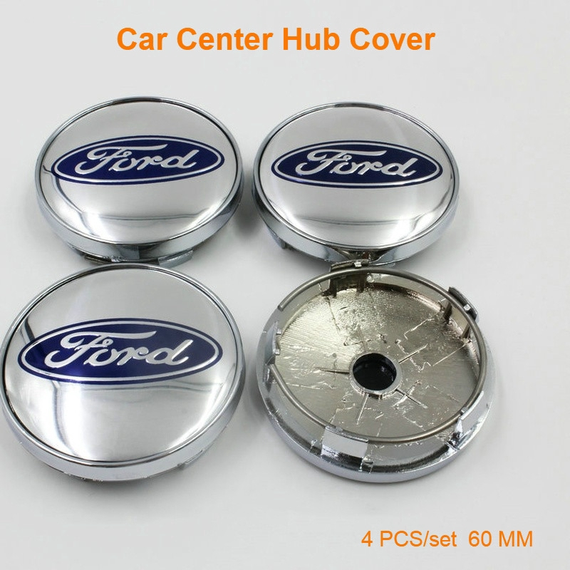 4 x 56mm Ford Wheel Badges Stickers For 60mm Alloy Center Hub Caps Metal Emblem