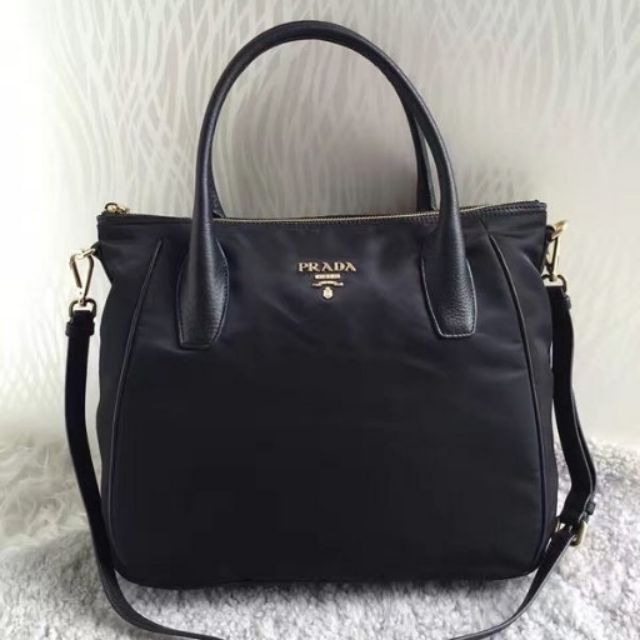 856aa8f218 PRADA BN1903 TESSUTO NYLON TOP HANDLE CONVERTIBLE BAG