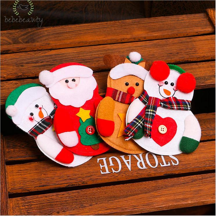 Home & Garden Table & Sofa Linens Generous New Santa Claus Cap Xmas Christmas Decorations For Home 1pcs Chair Cover Christmas Dinner Table Party Red Hat Chair Back Covers