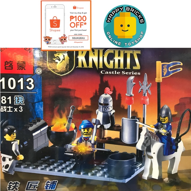 ENLIGHTEN 1013 Knights Smith Castle Series Building Blocks