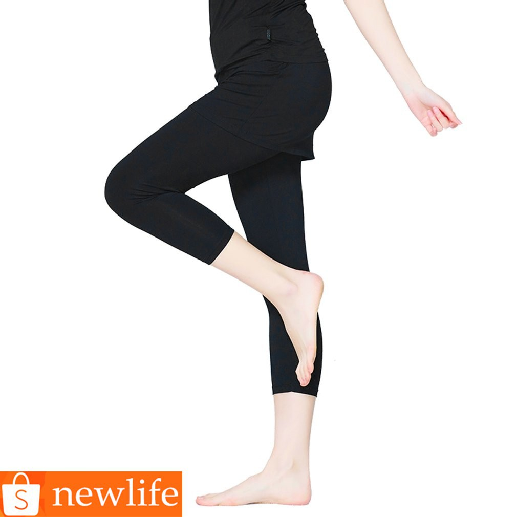 321d61f03ed7bc 💕Pieryoga Women Breathable Slim Tight Yoga Leggings Half Perspective Net  Design