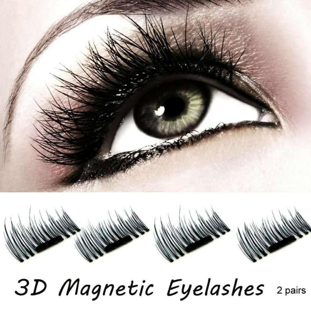 7db3212939d 4 Pcs/1 Pairs 3D Magnetic False Eyelashes Natural Eye Lashes ...