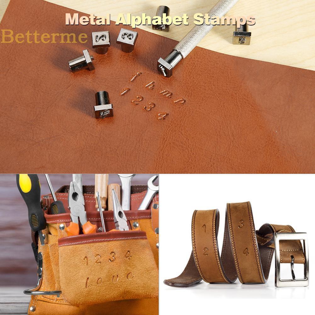 4mm 6mm Alphabet Number Stamp Die For Leather Belt Stamper Punch Craft DIY Tool