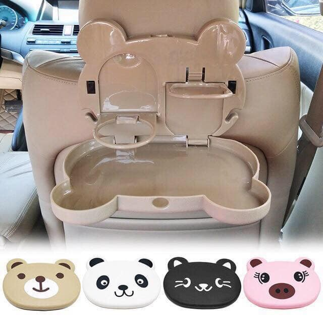 Auto Dining Table Car Back Seat Folding Tray Cup Holder Animal Food /& Drink Desk