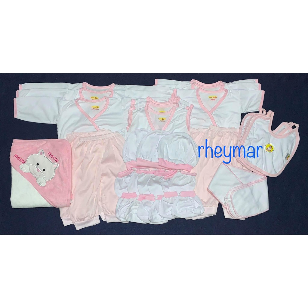 Newborn Clothes Color Lining Sets 31 pieces