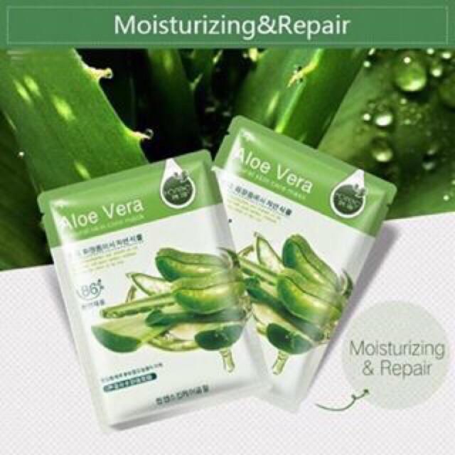 Aloe Vera Face Mask From Korea Natural Soft Skin Skin Face Care Rorec Shopee Philippines