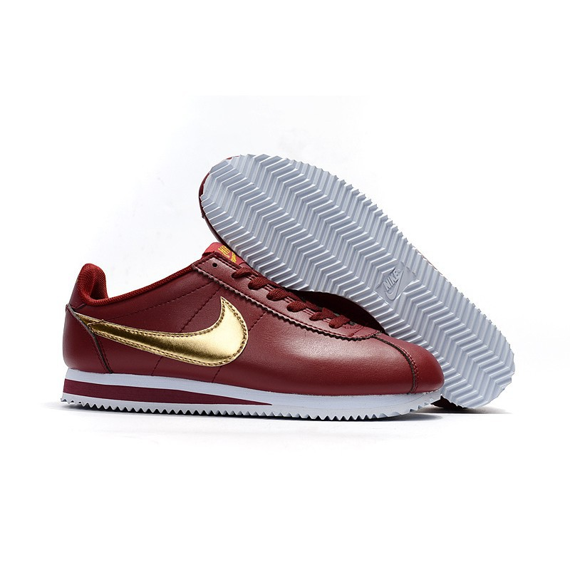 timeless design 6d416 75a31 nike cortez OEM top quality Maroon Gold
