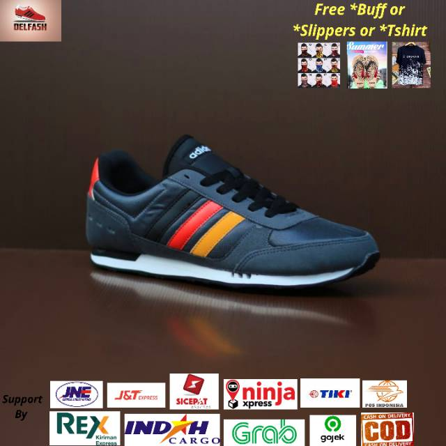 Adidas Neo City Racer Woven Gray List Red Original Shoes - Original Adidas Neo City Racer Sneakers