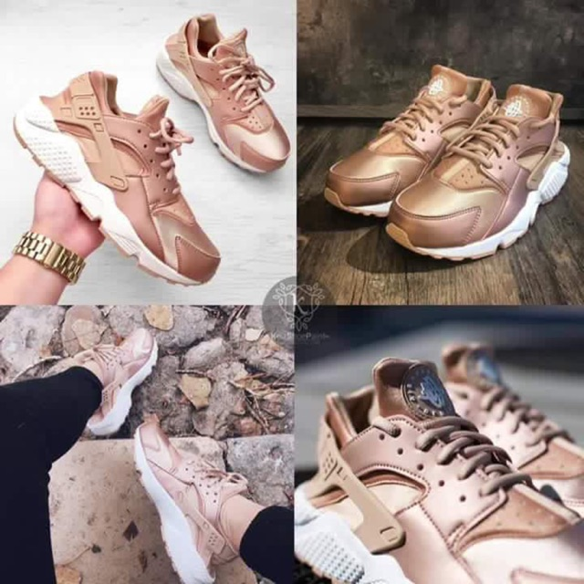 e15c3bb014c2 Nike Rose Gold Huarache