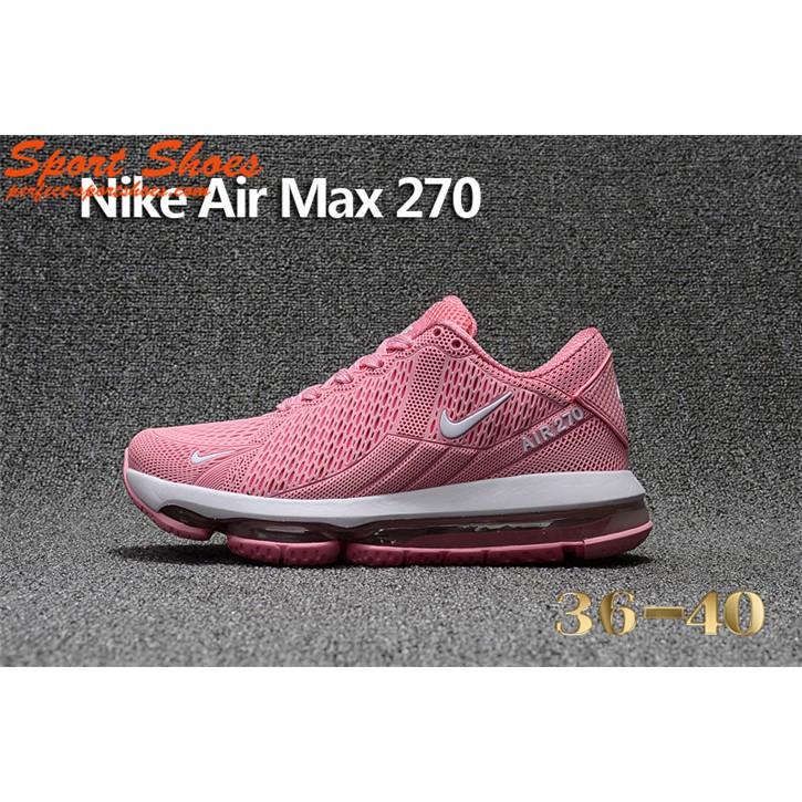 084f7b166888 2018 New Nike Air Max 270 Pink White Women Running Shoes