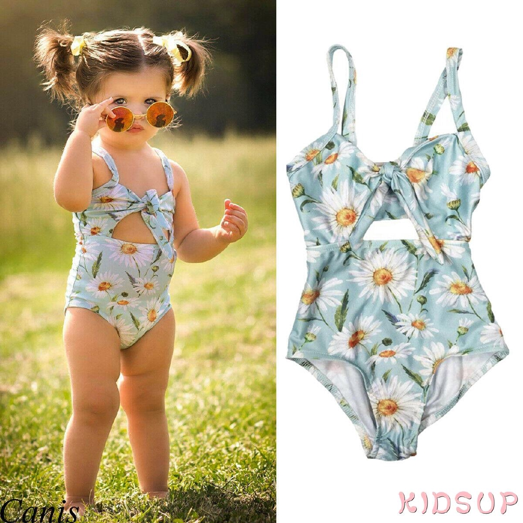 Swimwear Capable 2019 Toddler Floral Bikini Set Kids Baby Girl Tanikini Suit Bowknot Flamingo Swimwear Beachwear Swimming 1-6y 2019 Official