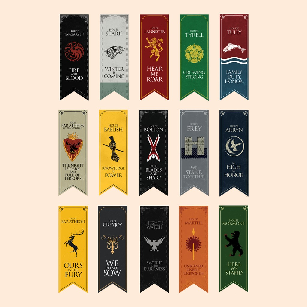 Set Game Of Thrones Bookmarks Shopee Philippines