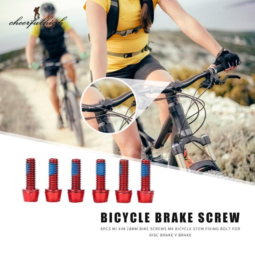 6pcs Mi Xim M6 18mm Bicycle Headset Stem Bolt Screws for Disc Brake V Brake