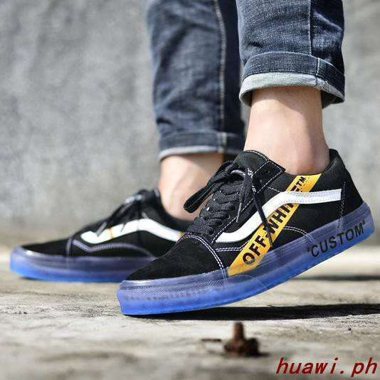 off white x vans old skool black