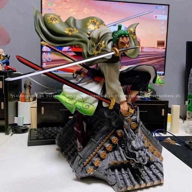 One Piece Figure GK Kimono Roronoa Zoro 50cm PVC Model Anime Collection Toy