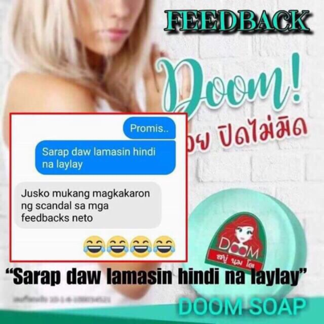 Doom soap Doom Breast Bust Soap Made in Thailand