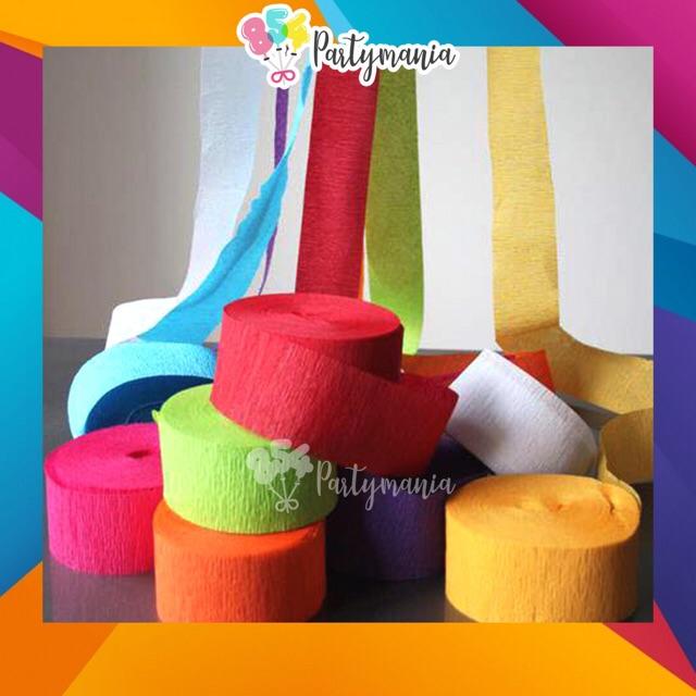 12rolls Crepe Paper Streamer DIY decoration 12rollsP